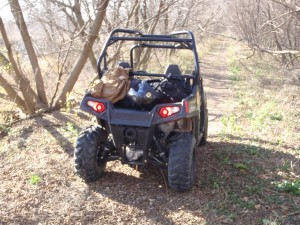 RZR-Time: New Polaris ranger, great for patroling the back areas -- and fast.