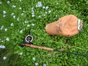 I've always associated summer trout fishing with mouse flies with forget me nots