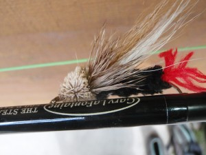 Night fly: Houghton Lake Blaster, which approximates a swimming rodent.