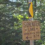The only sign en route to High Rock Bay