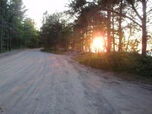 Sinking sun near Lake Superior Campground