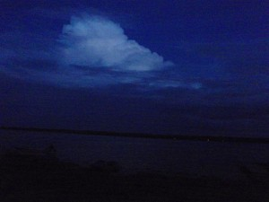 Night storm to the south
