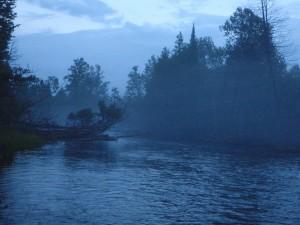 Eerie twilight fog