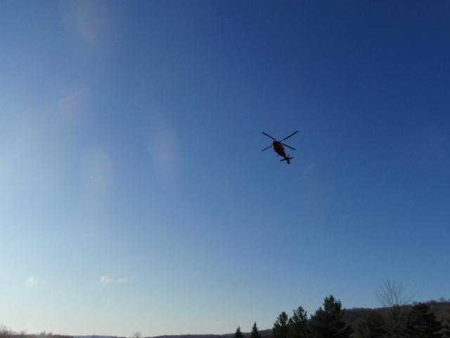 Coastie chopper beginning search.