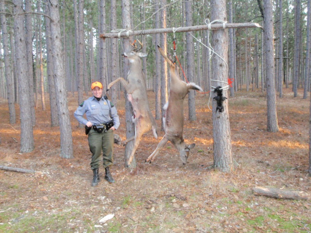 CO Lively at unusual buck pole of some southwest michigan hunters. The deer and squirrel are all legal.