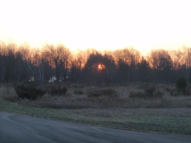 Sun rise coming to the Sleeping Bear.