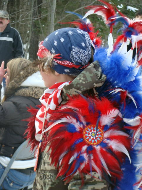 Blessing an eagle requires celebratory garb.