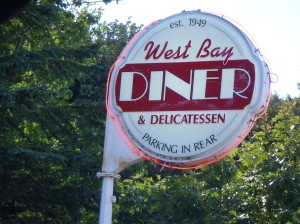 West Bay Diner in Grand MaRAIN. No rain today, first time in eons when we went through or visited.
