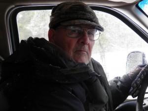 Auteur dans la neige