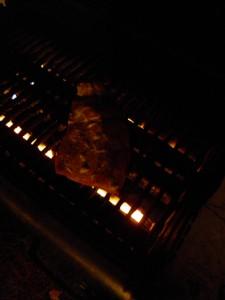 Sockeye on the grill.