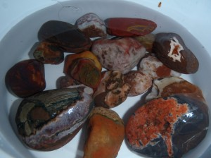 A portion of yesterday's agate finds