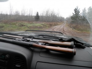 Our first stop this morning: An old guy with his 14 yr old grandson, a loaded 20-gauge between them and another uncased shotgun in the back seat. Great ethics, gandpa.