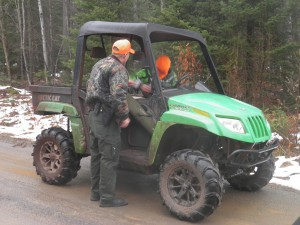 14 yr old going hunting alone, and driving, both illegal. We sent him back to camp with his folks.