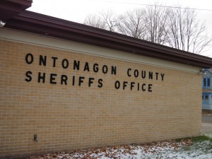 Quick stop at the Ontonagon County Cop Shop.