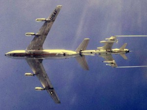 Thud (F-105) refueling somewhere over Laos enroute to North Vietnam