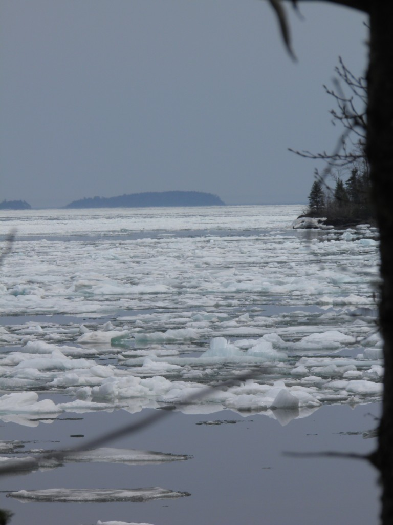 Huron Island from the tip of the Abbaye. The big one, I believe, is Lighthouse Island.