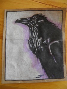 Henry's Raven, from a photo by Henry Kisor.