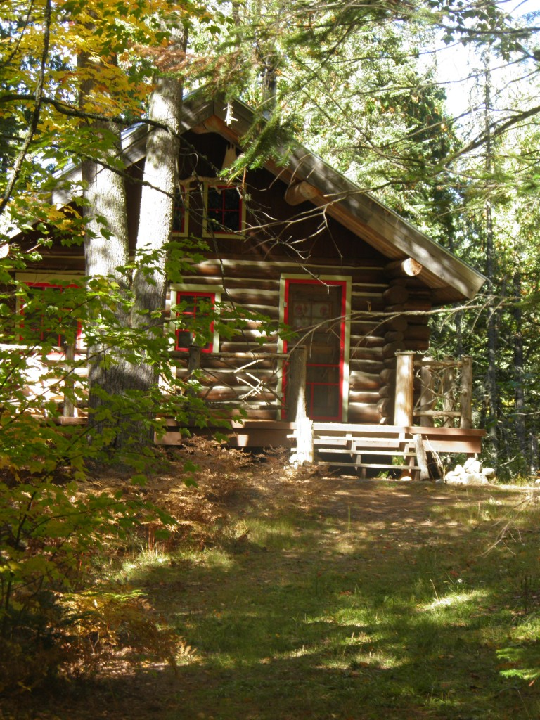 Cabin in the woods, off Fence Lake Road.