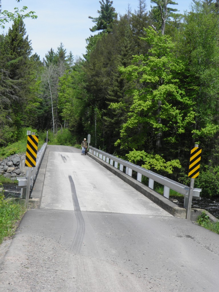 One-lane bridge over the Sturgeon, east side of the Sturgeon Gorge Wilderness