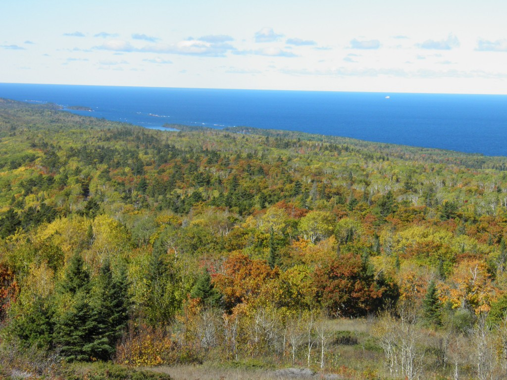 Lake Superior. On a good day you can see Isle Royale to the North. This is looking southwest.
